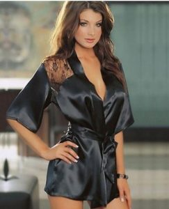 Escort girl Helen in a gentle robe of black silk with lace prepares to meet her man, ready to give her a real pleasure. The glance of a girl allegedly lures and beckons to her, forcing to come closer and to wish her to drop her robe.