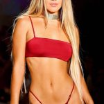 Blonde escorts uk Klavdyya is on a catwalk demonstrating a new collection of underwear