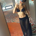 Istanbul VIP escort bayan Radmila makes a picture being in a hall of a hotel
